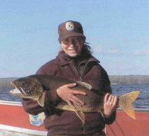 Bonnie with Lake Trout